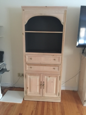 Second cabinet before painting