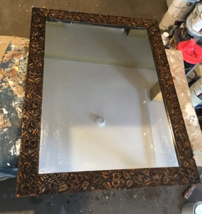 The mirror before painting