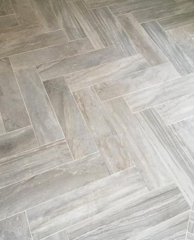 The new tile floor