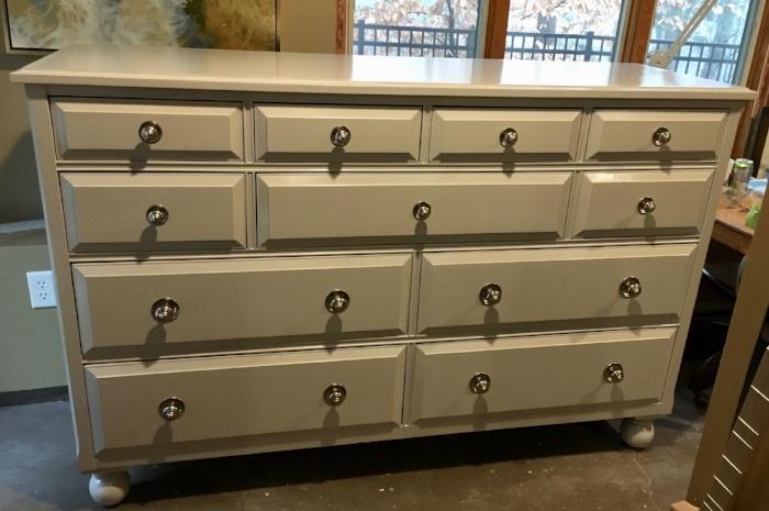 The dresser after