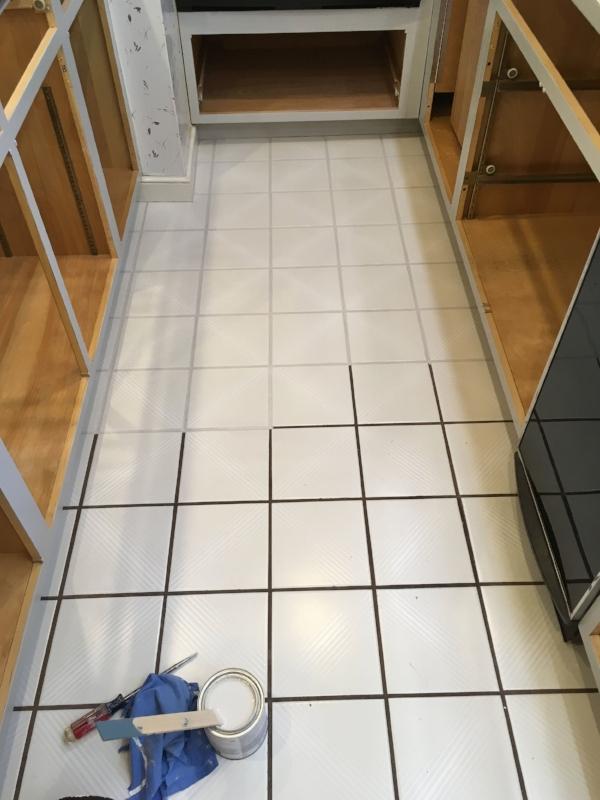 The floor in progress