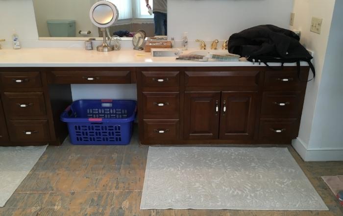Master bath before (right half)