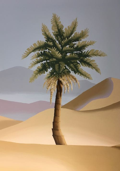 Palm tree detail