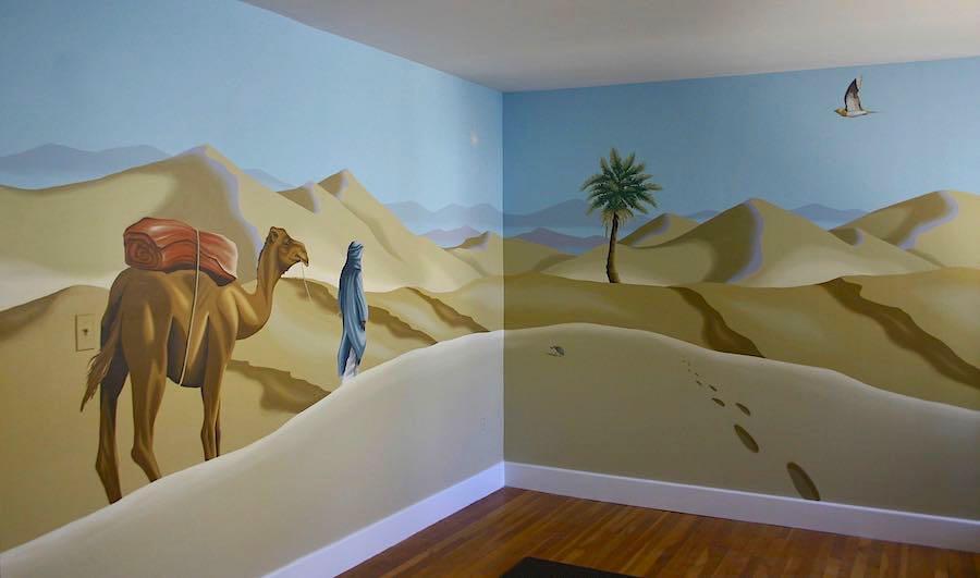Full-room mural in St. Andrews classroom in Wellesley