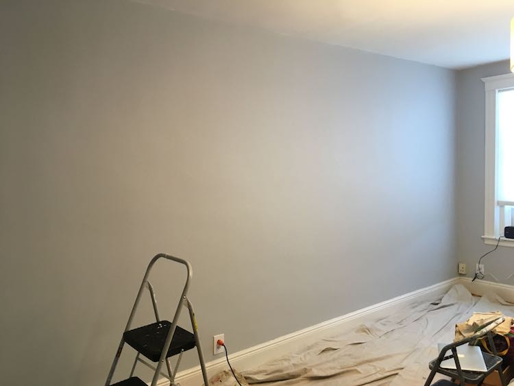 The blank wall before I started…