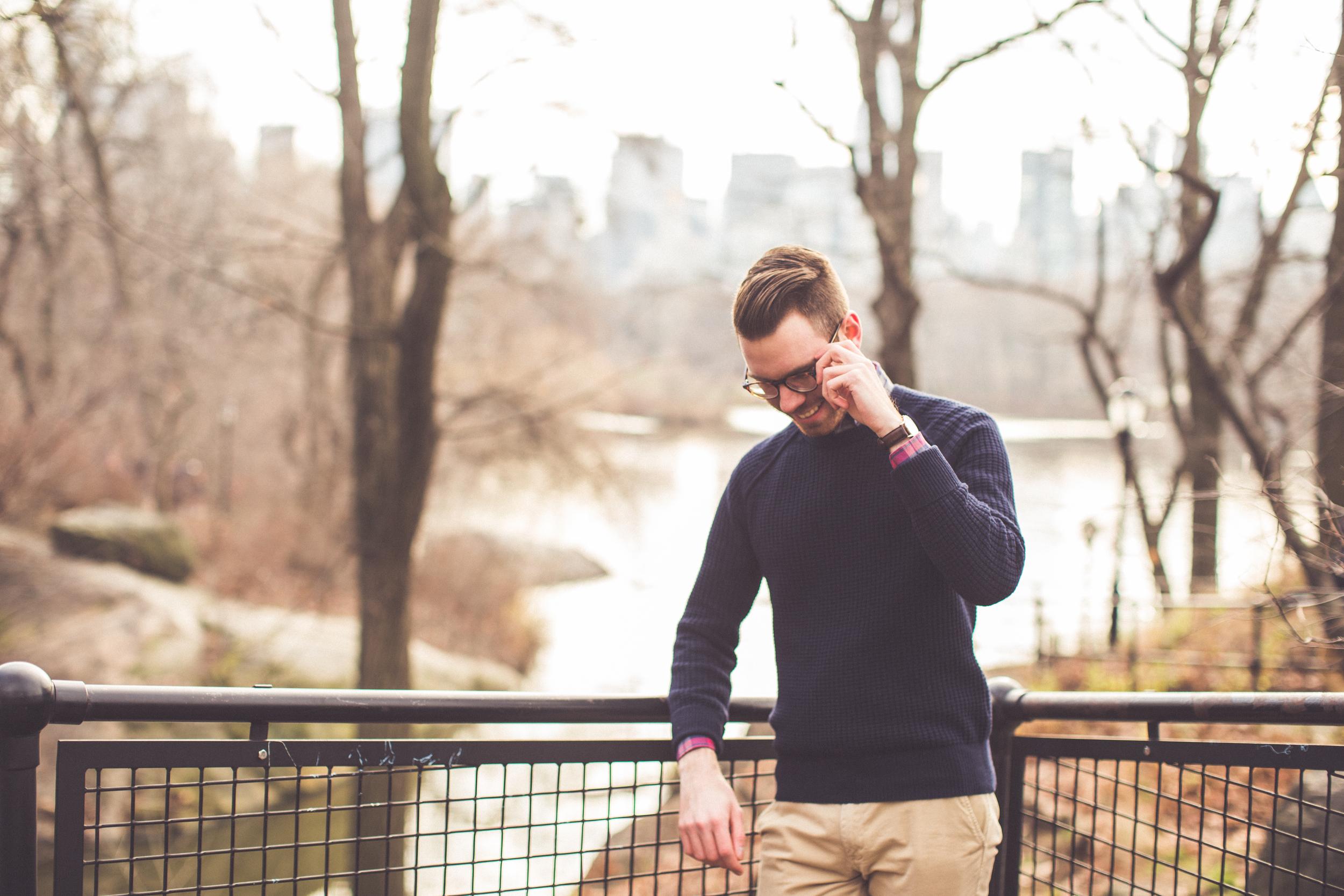 Pants: Brooks Brothers Red Fleece, Sweater: Banana Republic, Shirt: Ledbury, Watch: Daniel Wellington, Glasses: Ralph Lauren, Photo: Taylor Camp