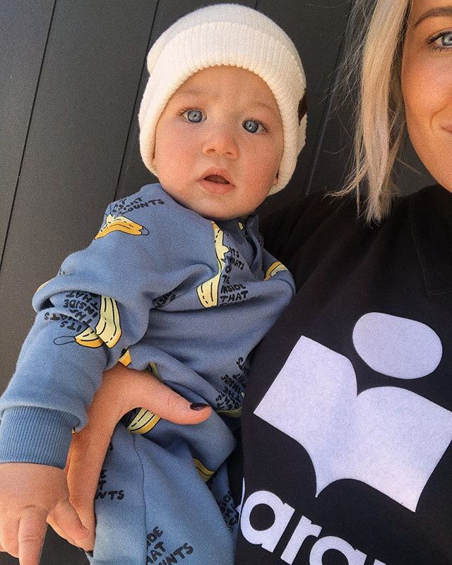 My little mate! 🍌🍌 #bondsaus #bondsbumpsandbaby
