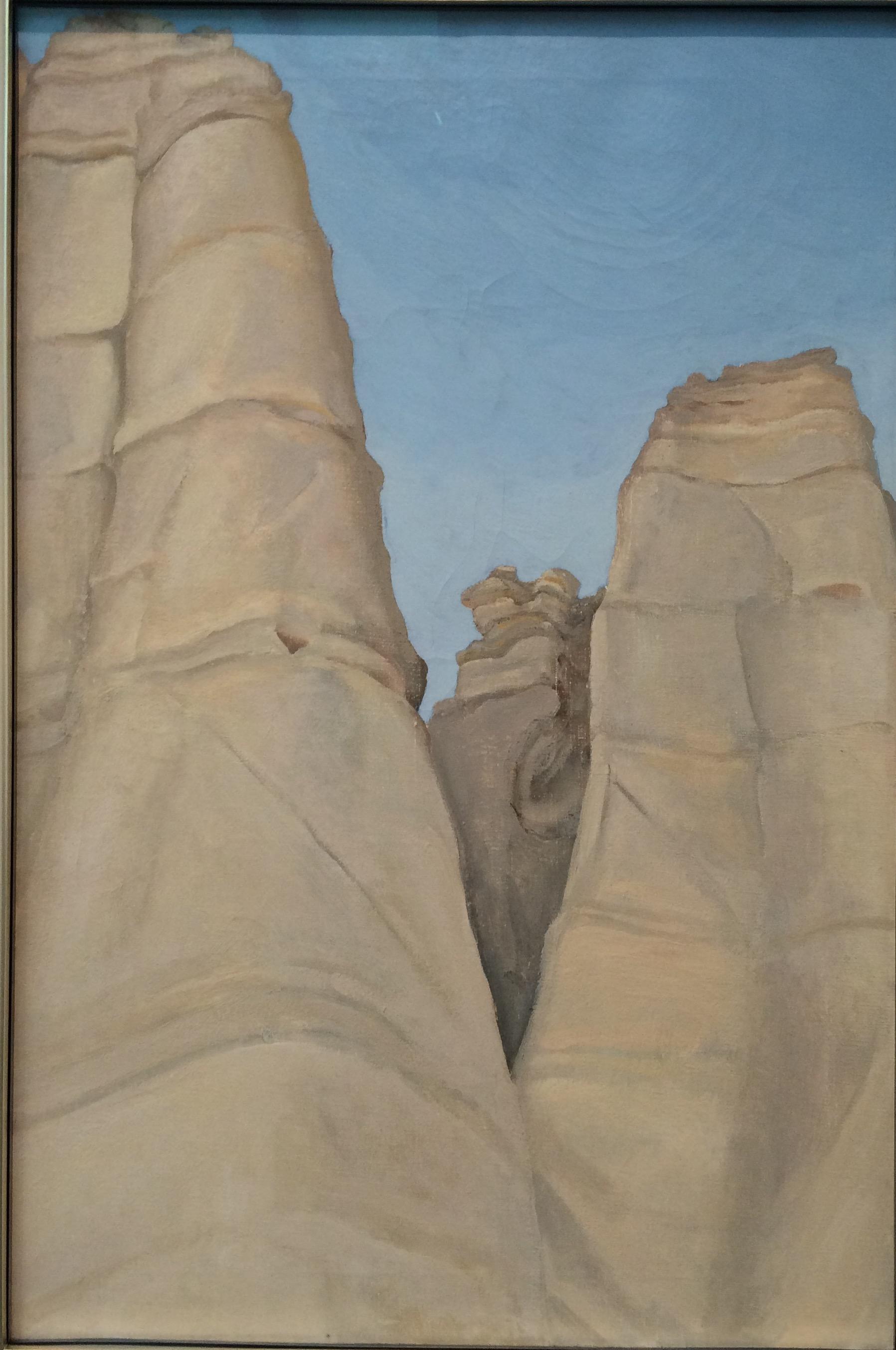 Georgia O'Keeffe,Plaza Blanca, The White Place. O'Keeffe Museum, Santa Fe.
