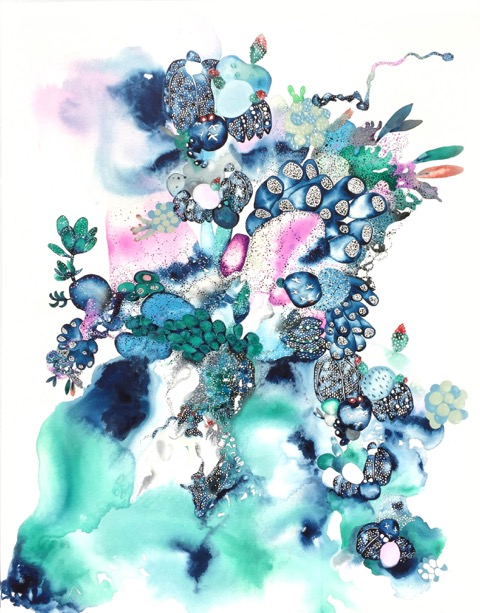 The mastosis of his mind, 2016, gouache, acrylic, watercolour on canvas, 104x84cm_taniamason.jpeg