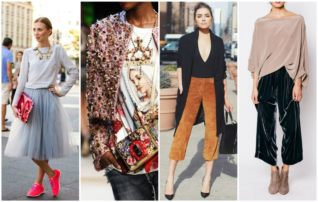 tulle skirts, anything with jewels set in fabric, interesting pants