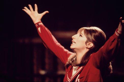Barbra Streisand in the film version of FUNNY GIRL.