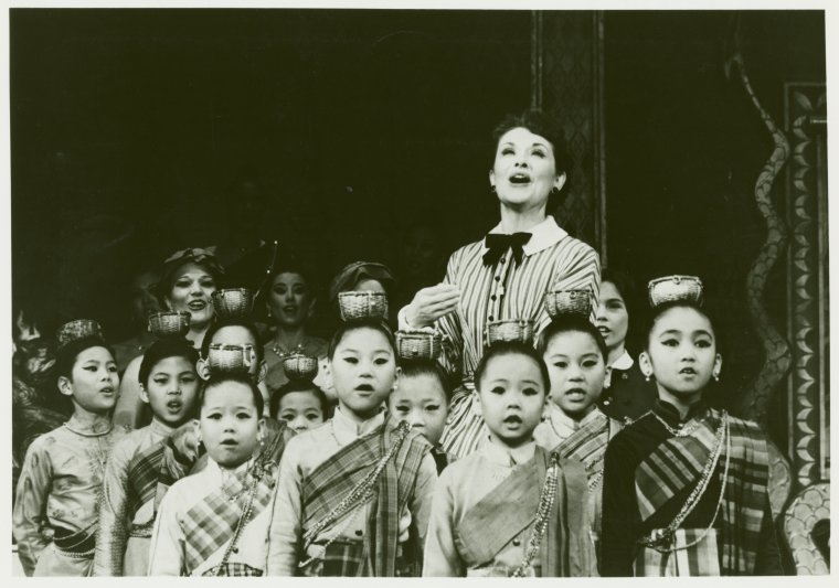 "Mary Beth Piel sings ""Getting To Know You"" in the 1985 revival of  The King and I ."