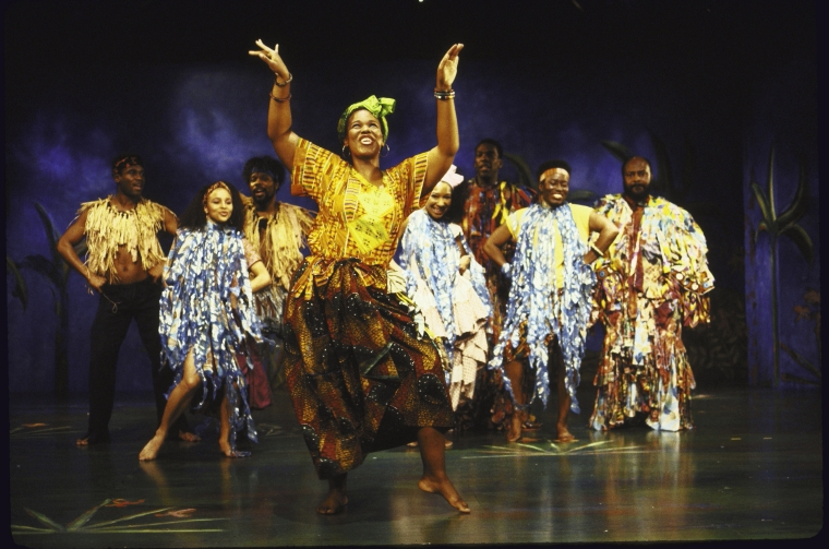 Kecia Lewis-Evans and the cast of  Once On This Island