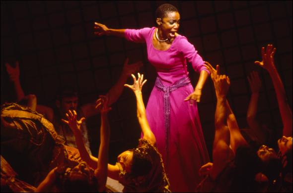 Heather Headley and the cast of  Aida .