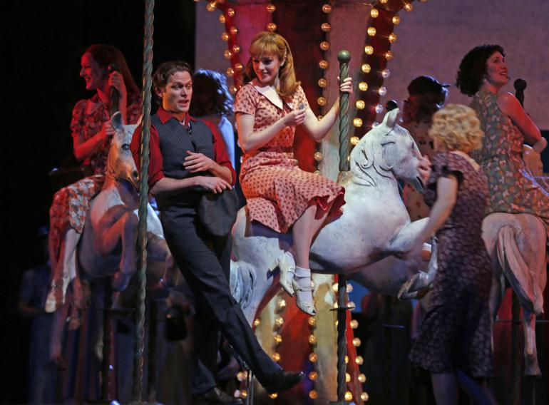 Steven Pasquale and Laura Osnes in  Carousel , 2015.