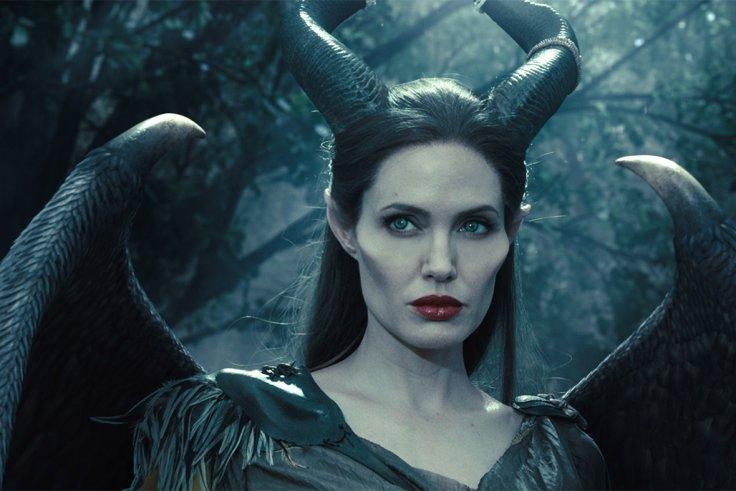 Angelina Jolie as Maleficent.
