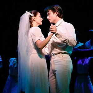 Elena Shaddow and James Snyder in  Fanny  at Encores!