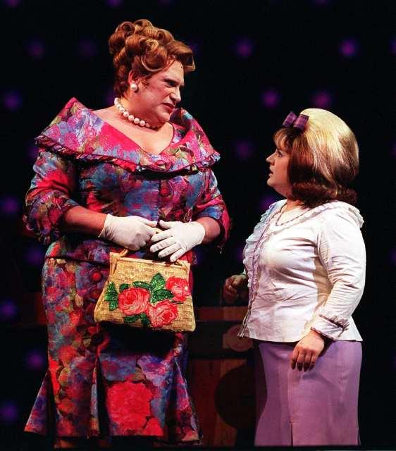 Harvey Fierstein & Marissa Jaret Winokour in  Hairspray