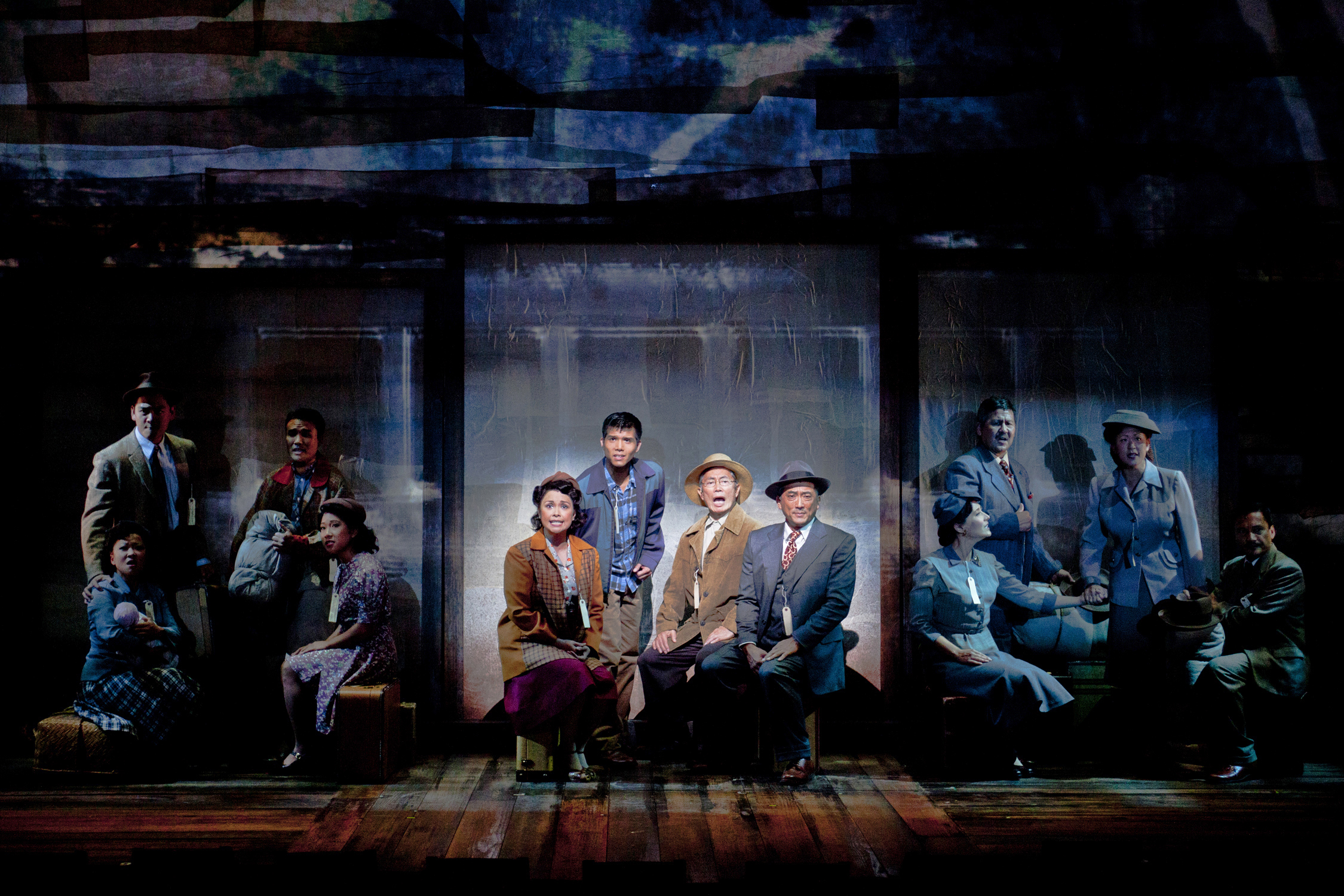 Lea Salonga, Telly Leung, George Takei and  Paul Nakauchi in  Allegiance .