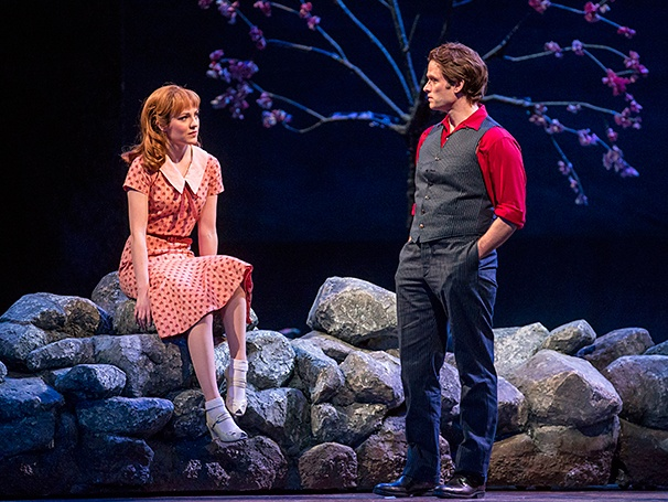 Laura Osnes and Steven Pasquale in  Carousel .