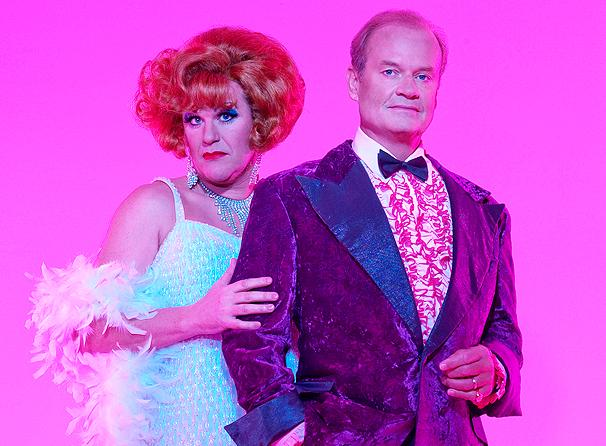 Douglas Hodge and Kelsey Grammer in  La Cage Aux Folles