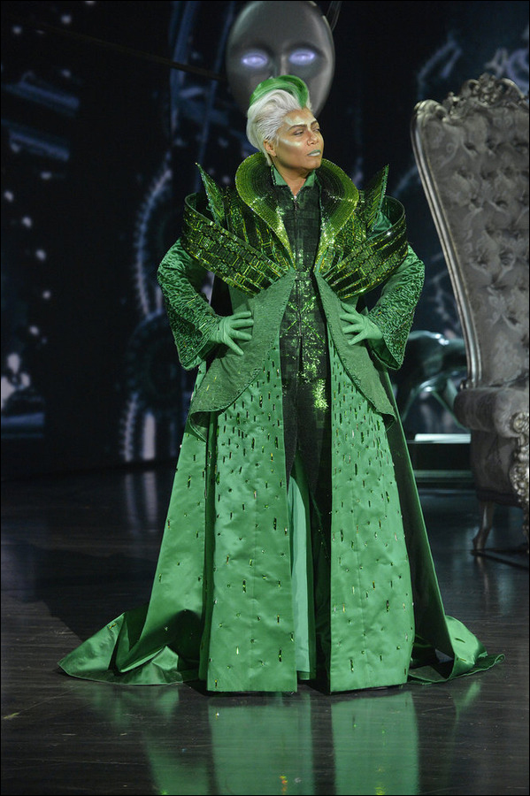 Queen Latifah as The Wiz.