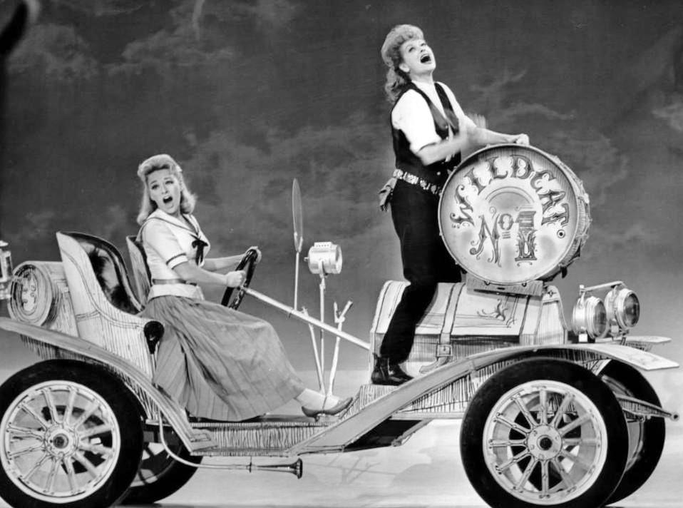 Paula Stewart and Lucille Ball in  Wildcat .