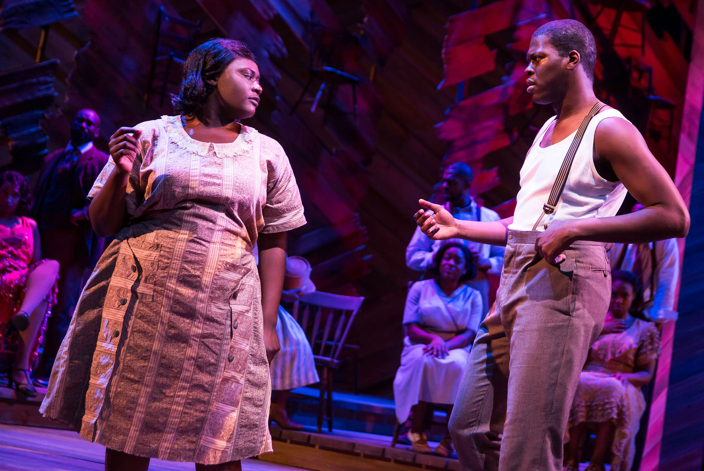 Danielle Brooks and Kyle Scatliffe in  The Color Purple .