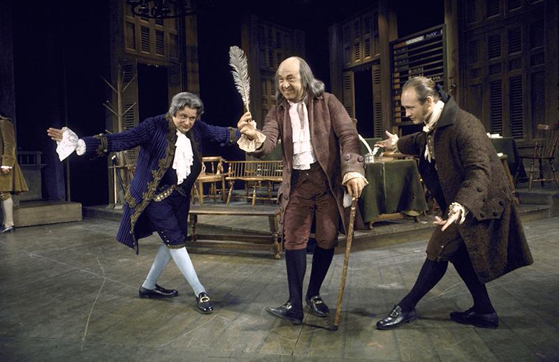 Henry Le Clair, Howard Da Silva, and David Vosburgh in  1776 .