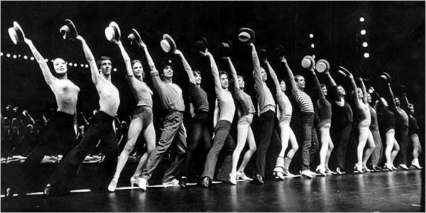 Original Broadway cast of  A Chorus Line .