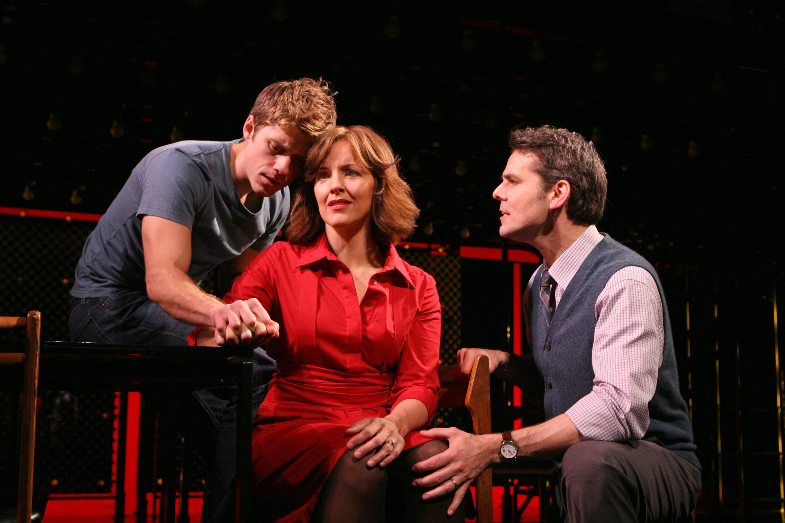 Aaron Tveit, Alice Ripley and J. Robert Spencer in  Next to Normal.