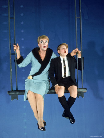 Angela Lansbury and Frankie Michaels in  Mame .