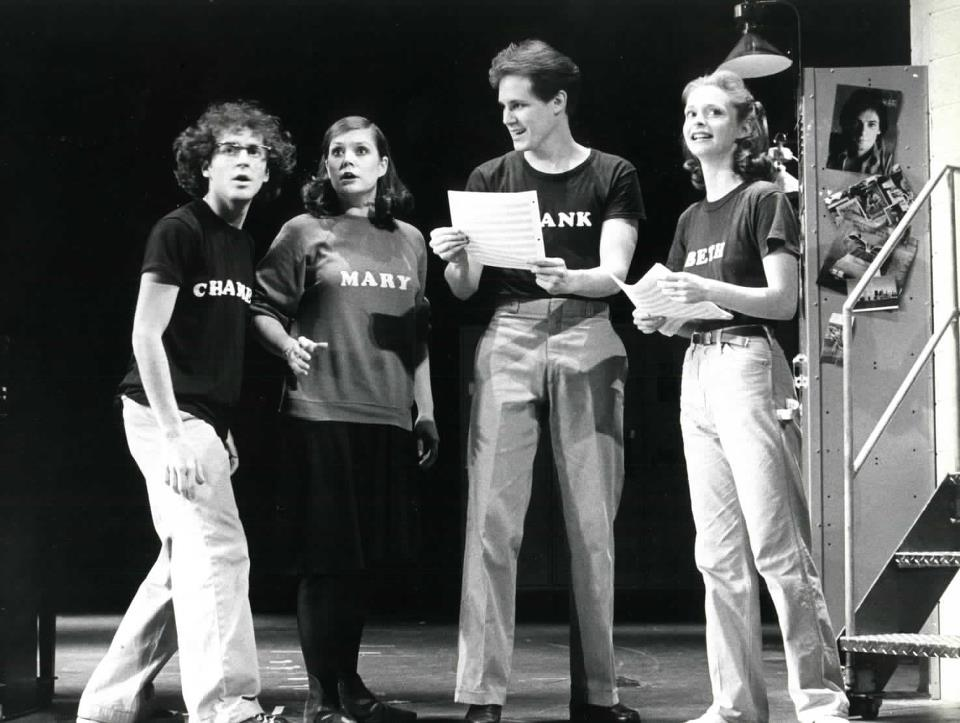 Lonny Price, Ann Morrison, Jim Walton and Sally Klein in  Merrily We Roll Along.