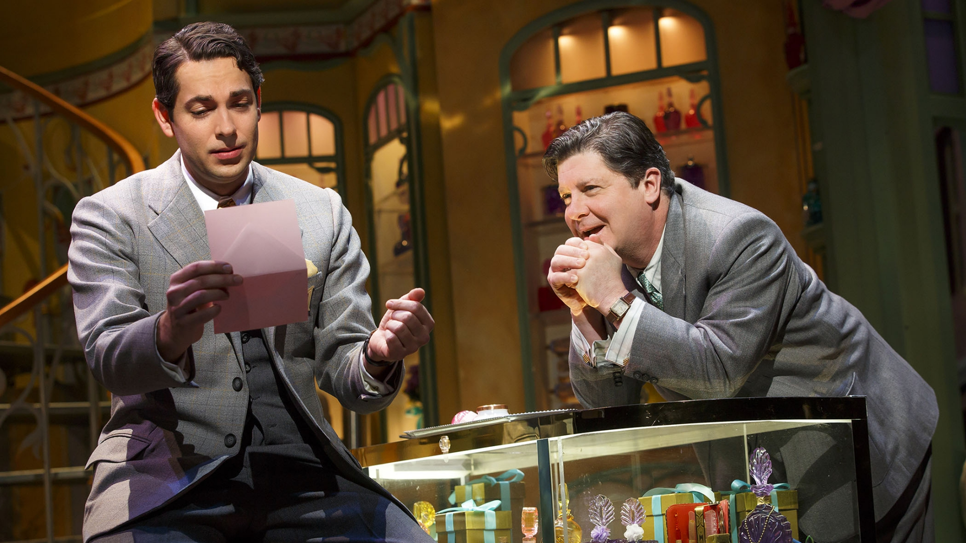 Zachary Levi and Matt McGrath in  She Loves Me .