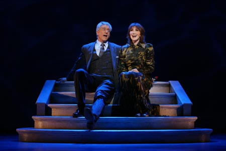 Gregory Jbara and Joanna Gleason in  Dirty Rotten Scoundrels .