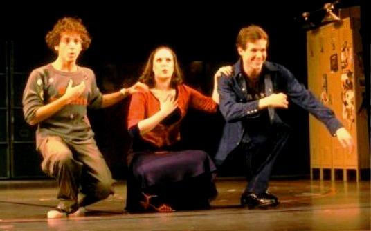 Lonny Price, Ann Morrison, Jim Walton in the original Broadway production.