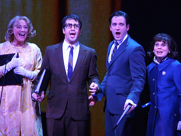 Betsy Wolfe, Lin-Manuel Miranda, Colin Donnell and Celia Keenan-Bolger in the Encores production.