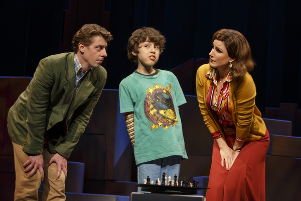 Christian Borle ,  Anthony Rosenthal ,  and   Stephanie J. Block in  Falsettos .
