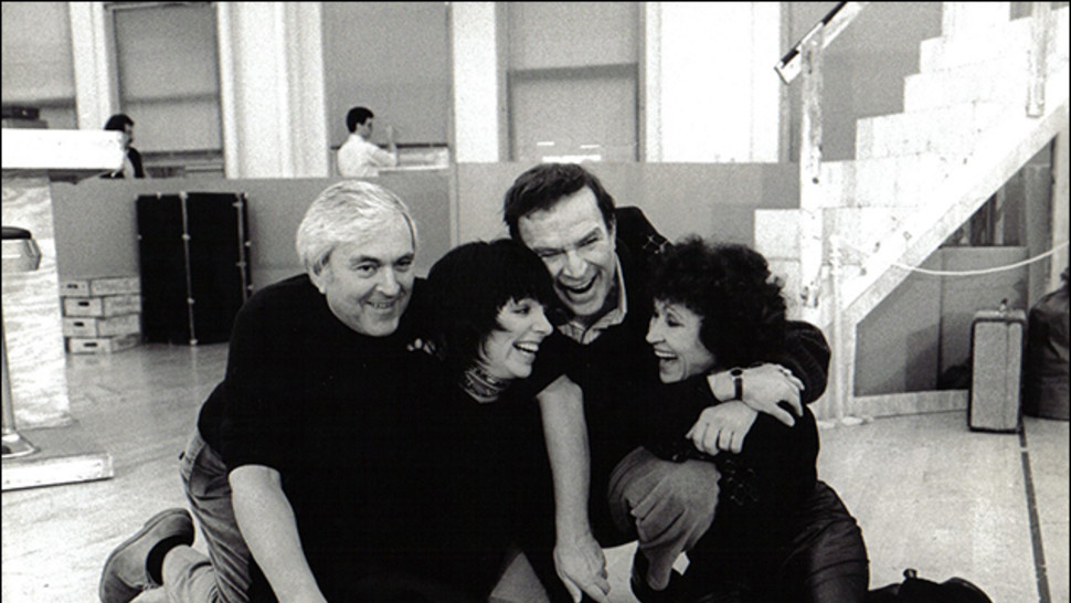 John Kander, Liza Minnelli, Fred Ebb and Chita Rivera in rehearsal for  The Rink