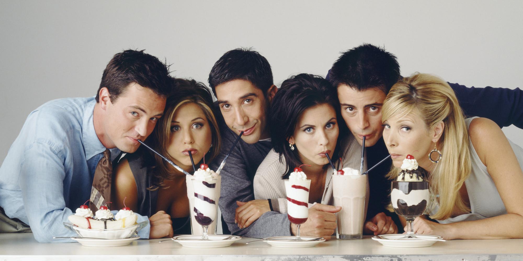 Matthew Perry, Jennifer Aniston, David Schwimmer, Courtney Cox, Matt LeBlanc and Lisa Kudrow