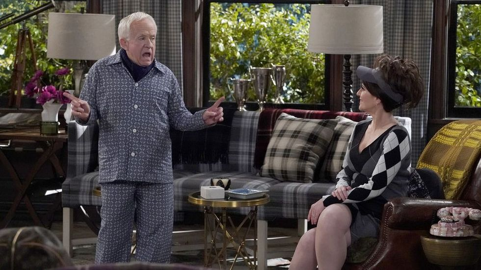 Leslie Jordan and Megan Mullally