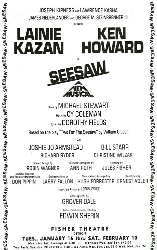 Seesaw  out of town had a very different team.