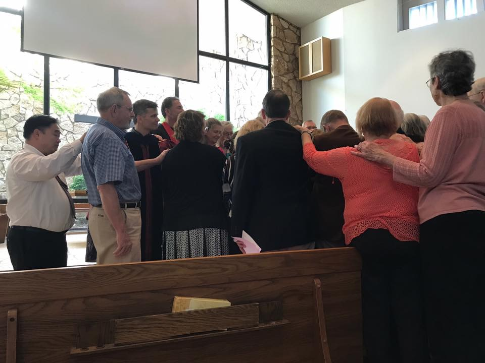 Laying on of hands for Rev. Peterson-Shearer