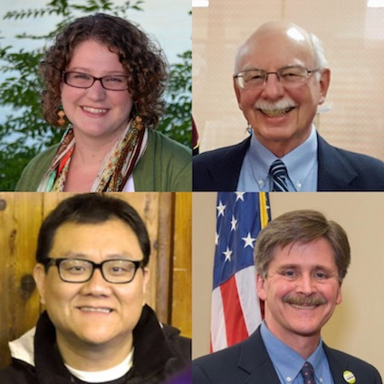 Rev. Ashley Birk, Elder Sam Dechter, Rev. Paul Kim, Elder Steve Shively.