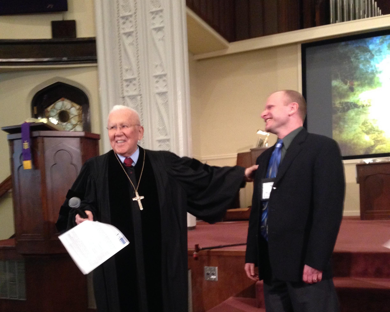 Rev. Dr. Henry Fawcett installing Rev. Kurt Helmcke