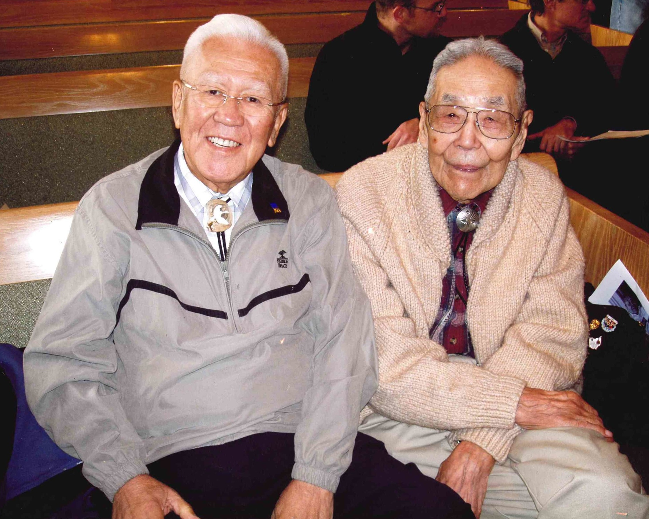 Rev. Dr. Henry Fawcett (left) and Rev.  Dr. Walter Soboleff , great Tlingit Pastor, Elder, Scholar and 2nd Native Alaskan ordained as teaching elder in the PCUSA, for whom the Sealaska Heritage Institute's Walter Soboleff Building in downtown Juneau is named.