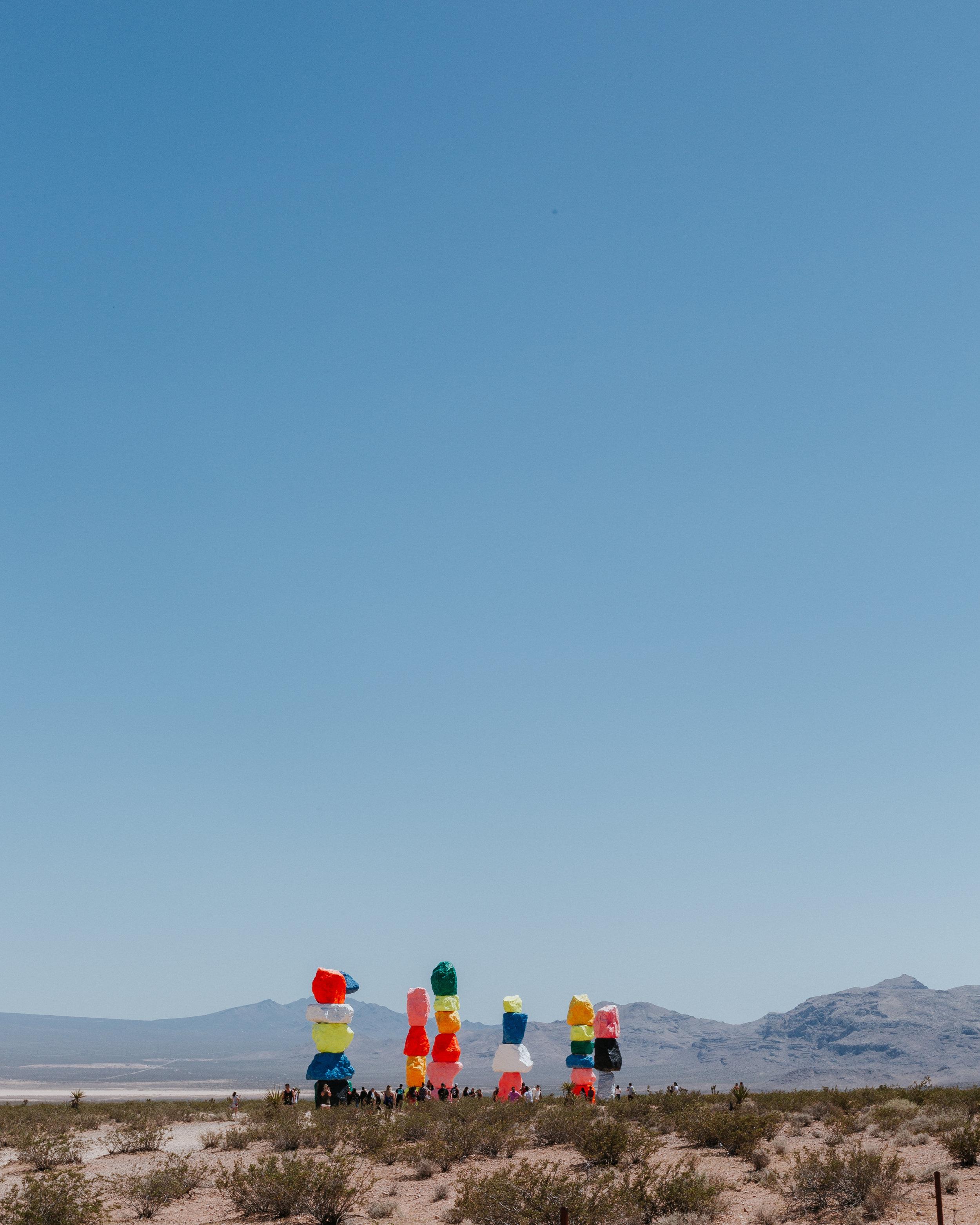 Las Vegas, Sandy Valley, Nevada desert 7 magic mountains