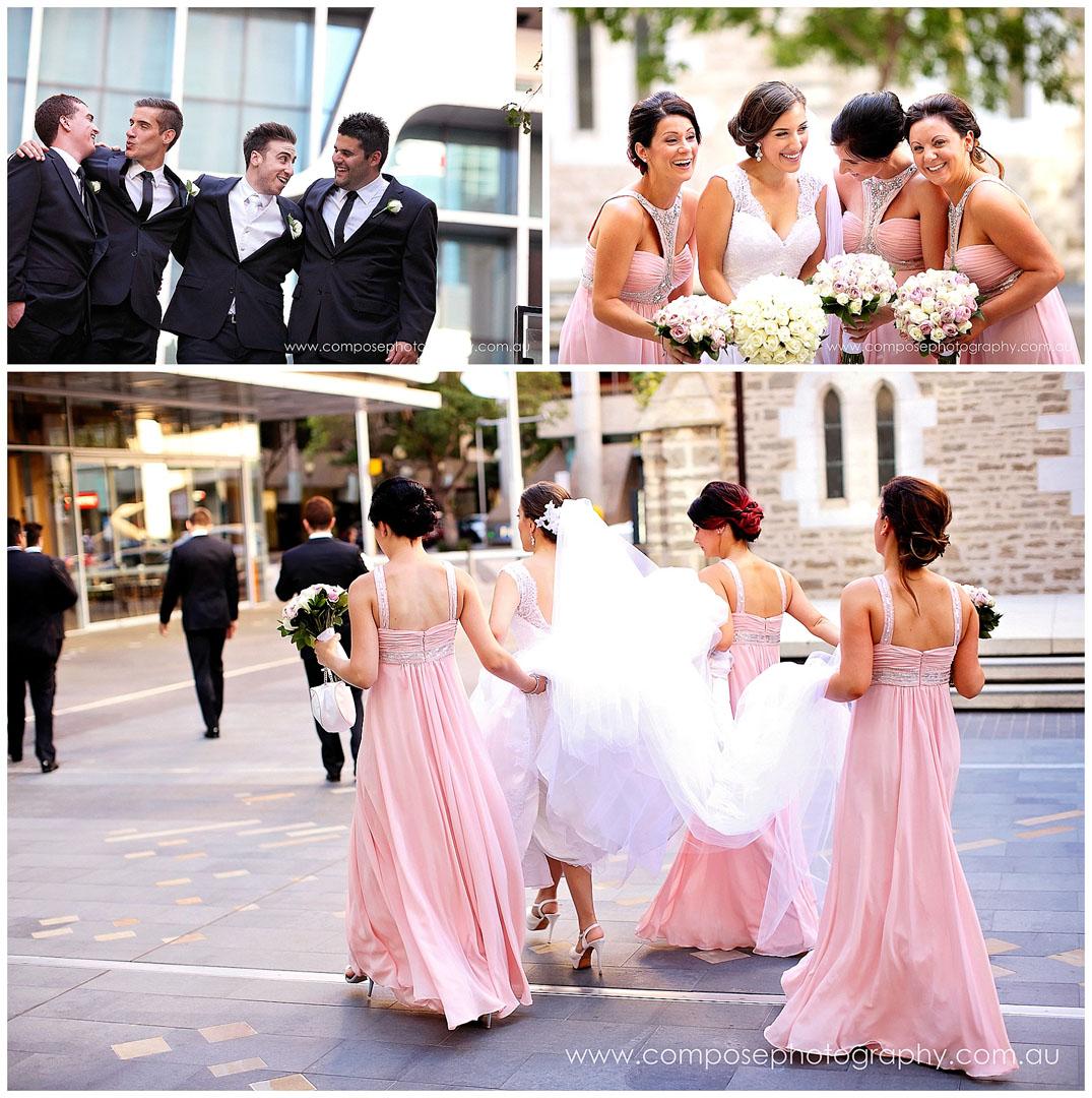 perth city wedding photo