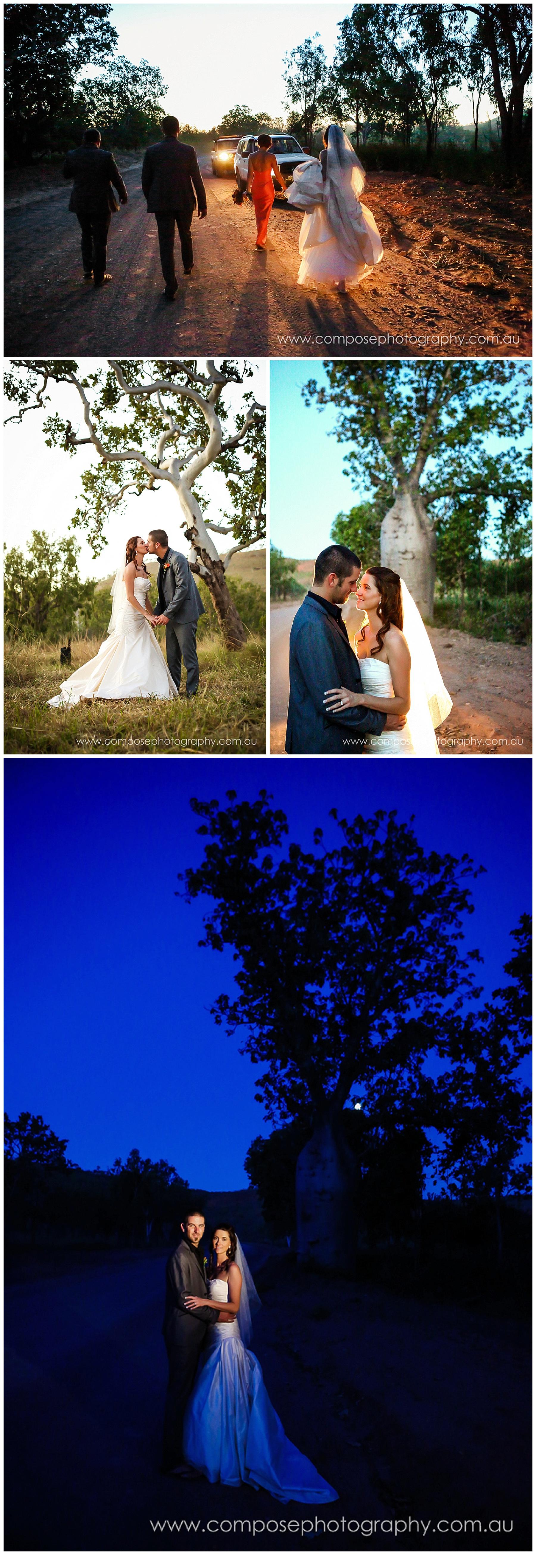 boab tree wedding photo