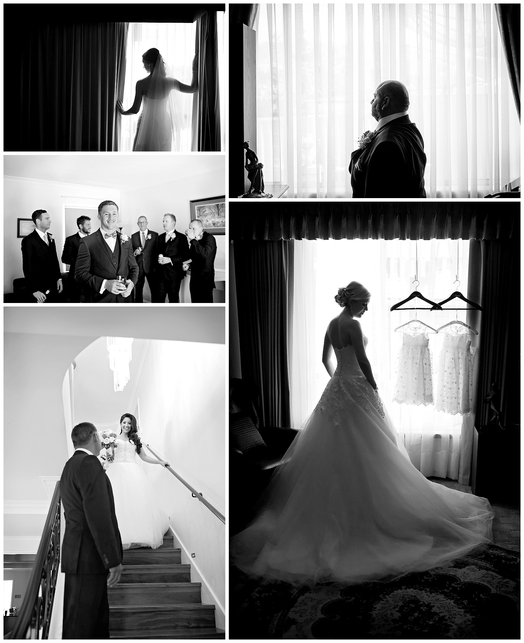 silhouetted wedding photo